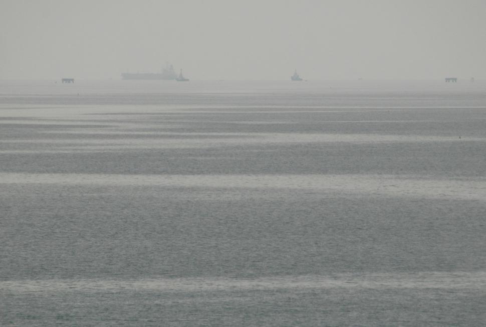Download Free Stock HD Photo of Grey Misty Ocean Online