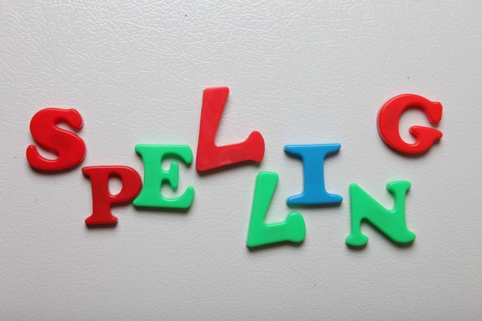 Download Free Stock HD Photo of Letters spelling the word SPELLING Online