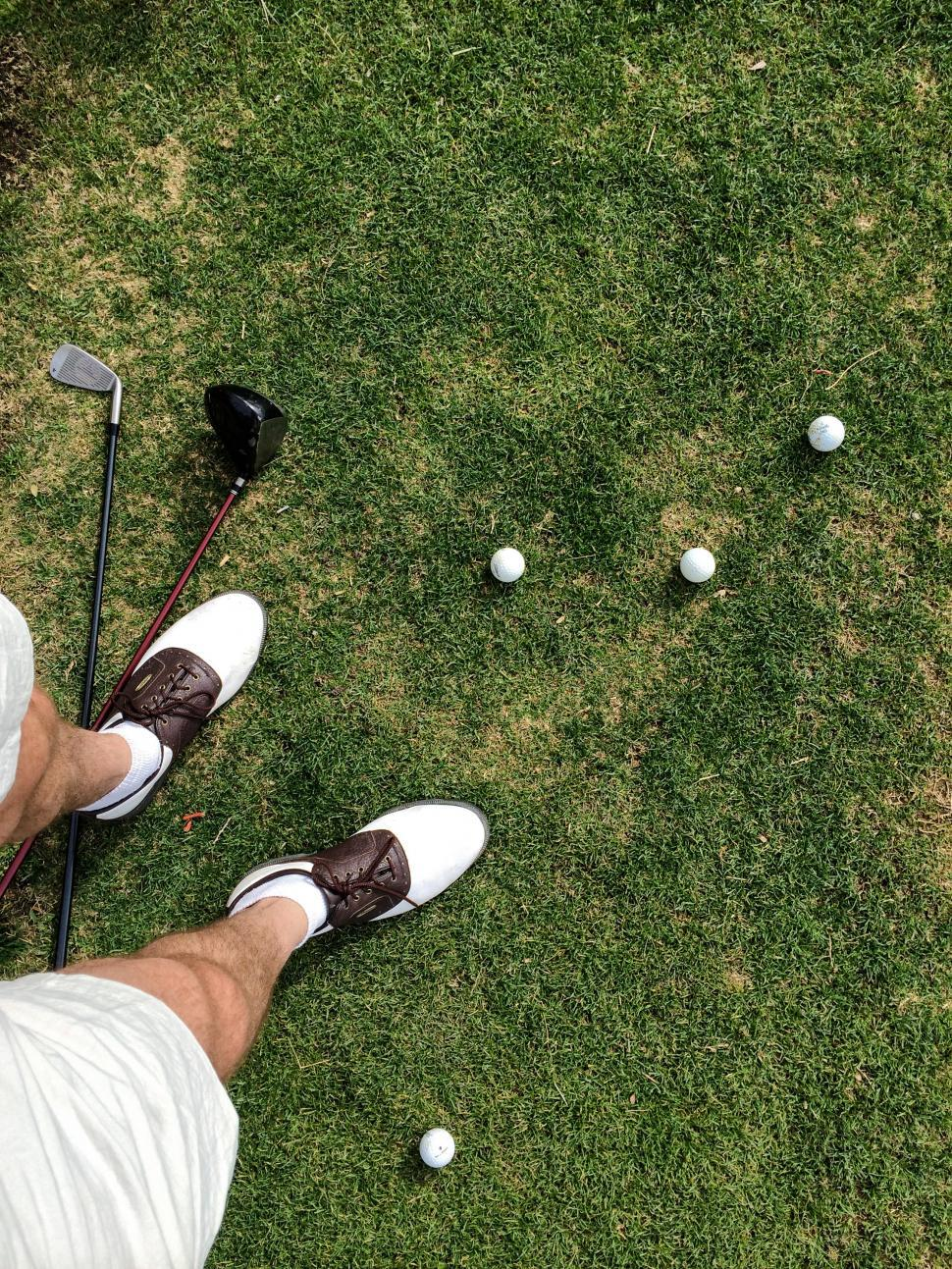 Download Free Stock HD Photo of Practicing on Golf Course Online
