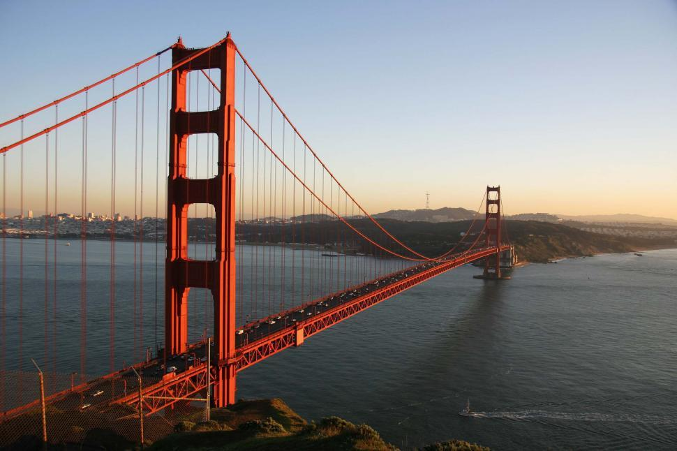 Free image of Evening view of Golden Gate bridge