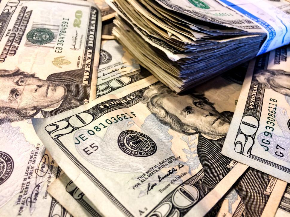Download Free Stock HD Photo of US Twenty Dollar bills Online
