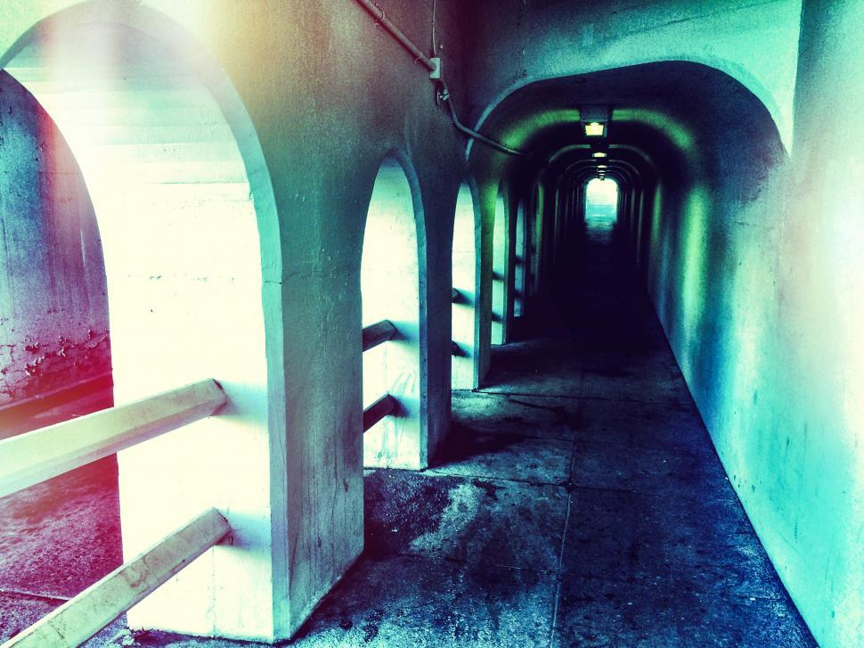 Download Free Stock HD Photo of Dark tunnel Online