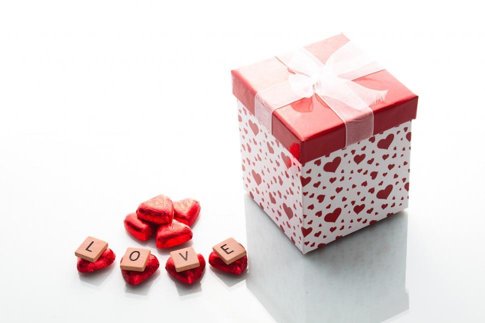 Download Free Stock HD Photo of Love word with gift Online