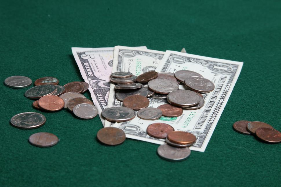 Download Free Stock HD Photo of Coins and dollar bills Online