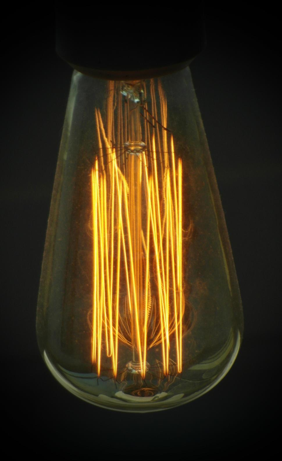 Download Free Stock HD Photo of Thin Edison Light Bulb Online