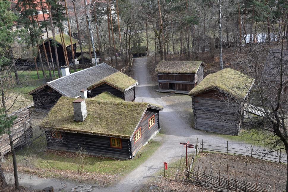 Download Free Stock HD Photo of Ancient Norwegian buildings Online