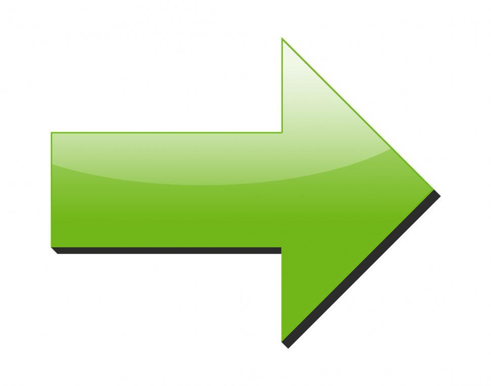 Download Free Stock HD Photo of Green Dimensional Arrow Online