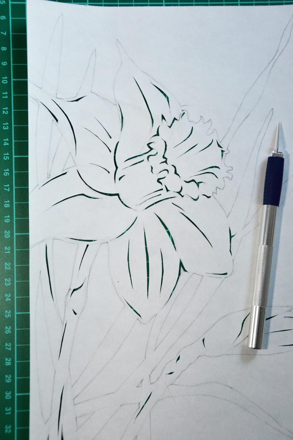 Download Free Stock HD Photo of Daffodil paper cutting Online