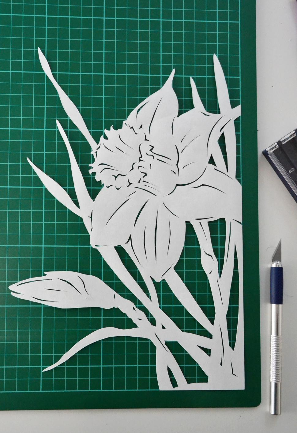 Download Free Stock HD Photo of Narcissus paper cutting Online