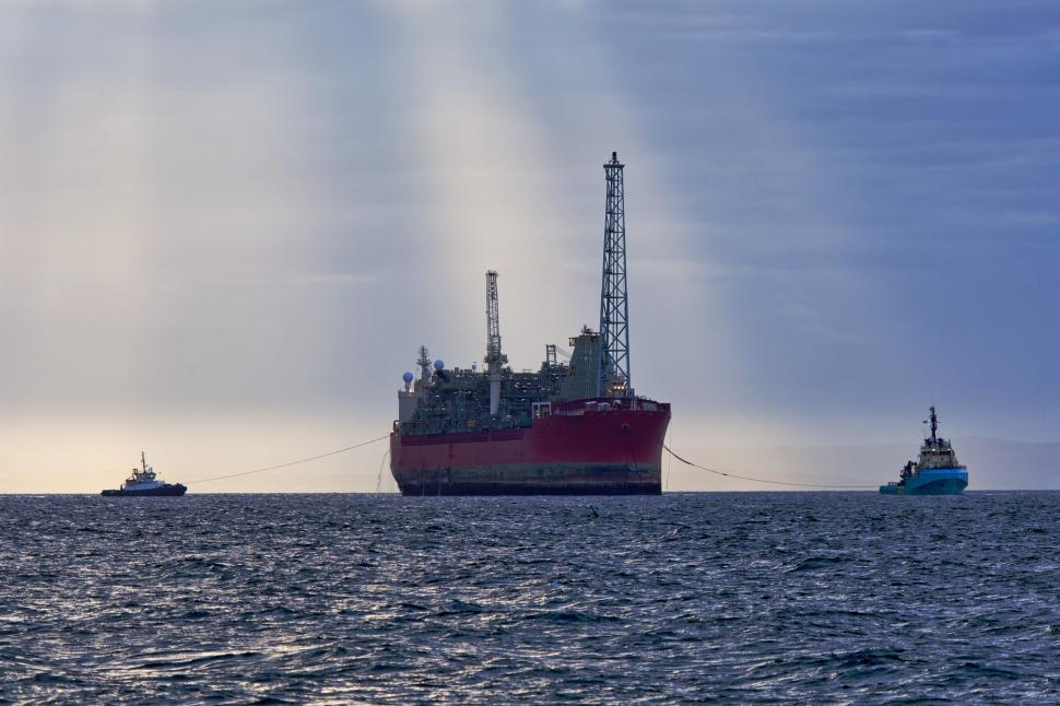 Download Free Stock HD Photo of FPSO under tow Online
