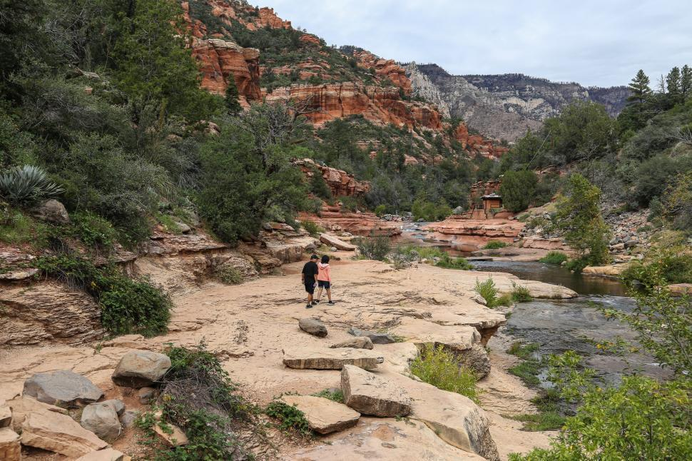 Download Free Stock HD Photo of People at Slide Rock Online