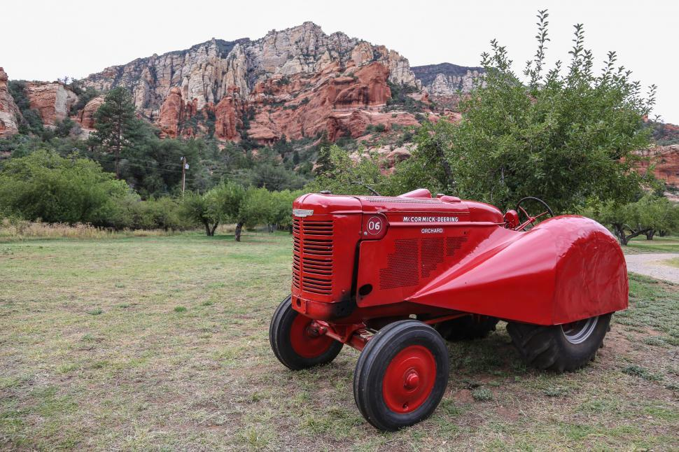 Download Free Stock HD Photo of Slide Rock Vintage Tractor Online