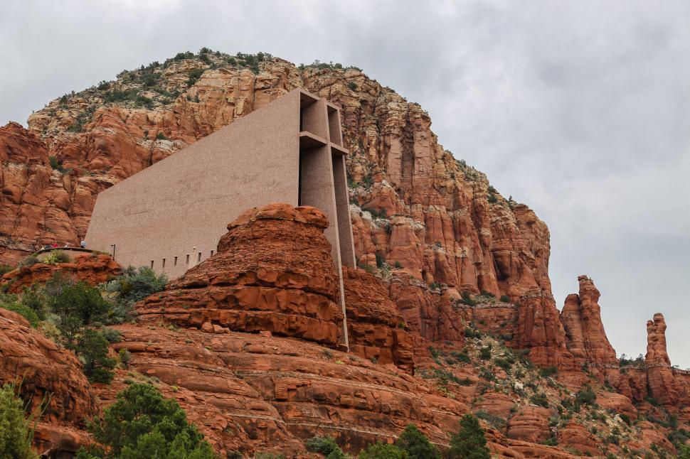 Download Free Stock HD Photo of Red Rock Chapel Online