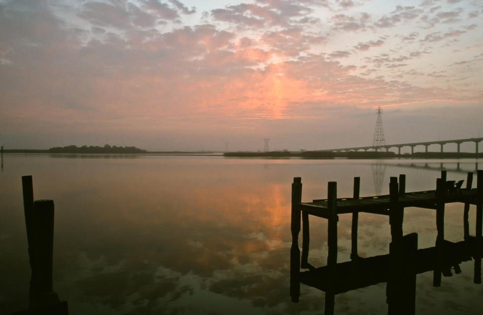 Download Free Stock HD Photo of Sunrise at Apalachicola River Online