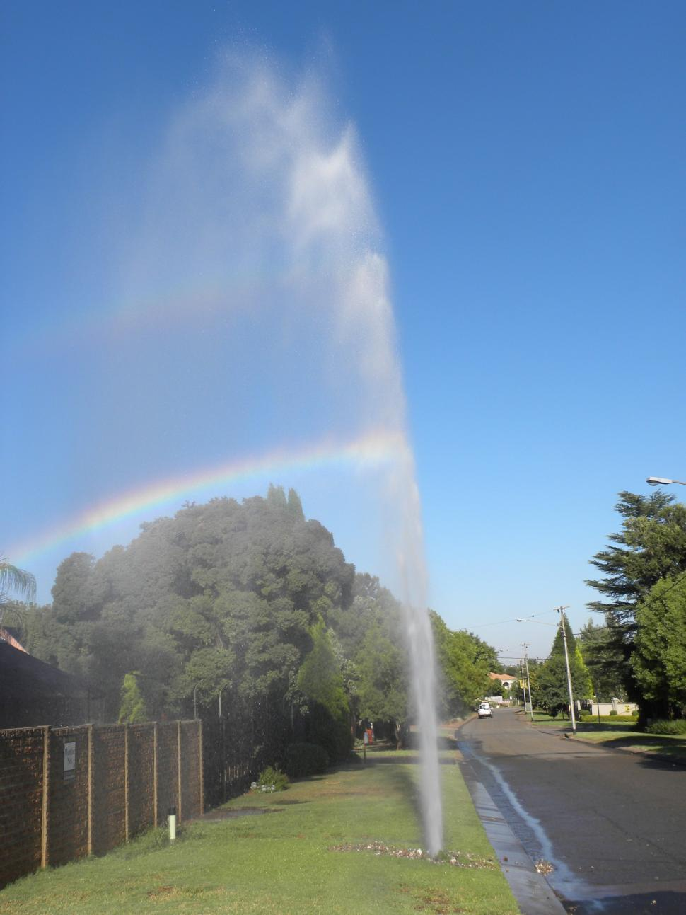 Download Free Stock HD Photo of Geyser from Burst Water Pipe Online