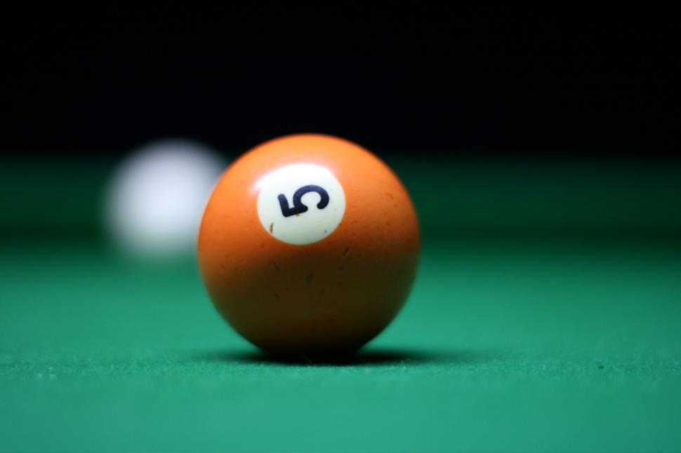 Download Free Stock HD Photo of number 5 pool ball Online