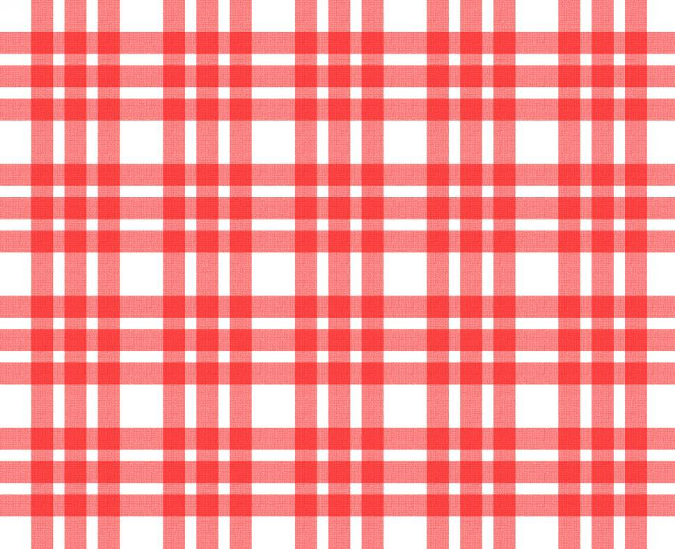 Download Free Stock HD Photo of Red and white tablecloth pattern Online