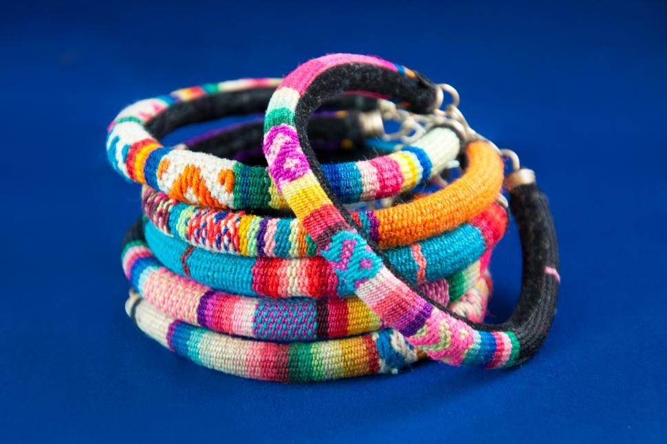 Download Free Stock HD Photo of Peru colorful fashion bracelets Online