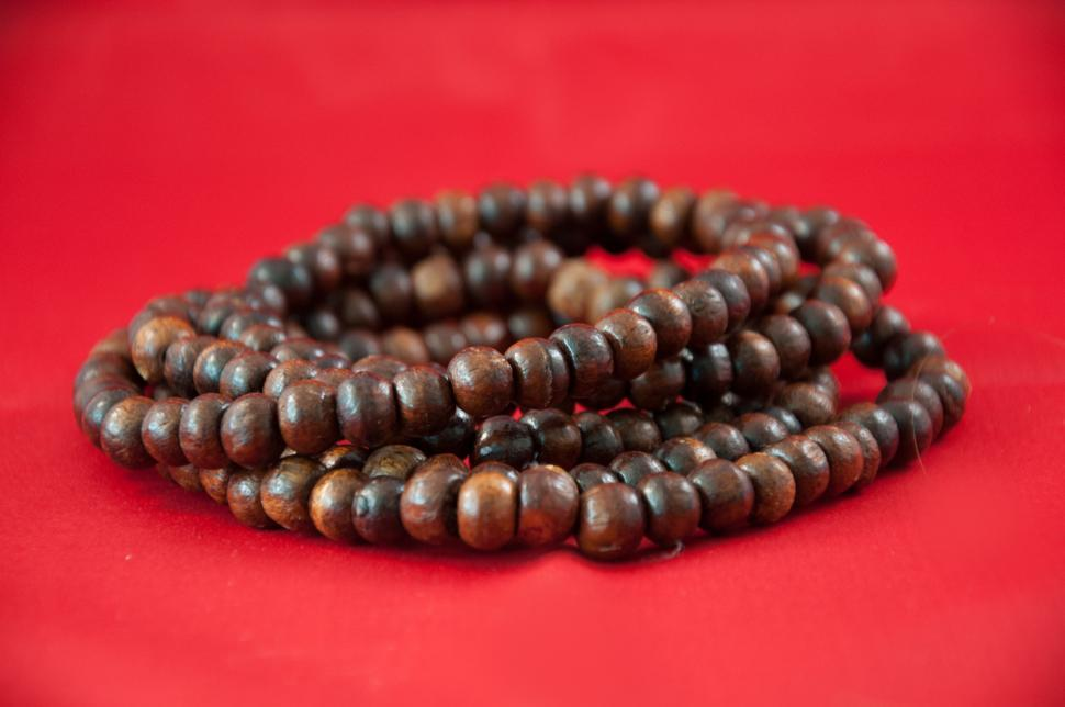 Download Free Stock HD Photo of Wooden necklace Online