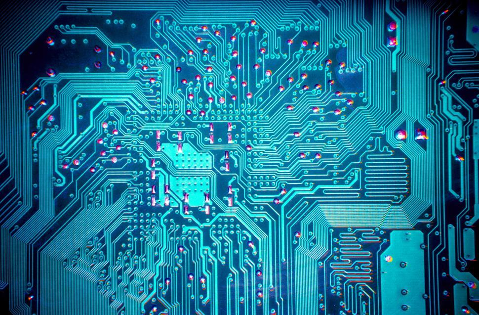 Download Free Stock HD Photo of blue computer circuit board Online