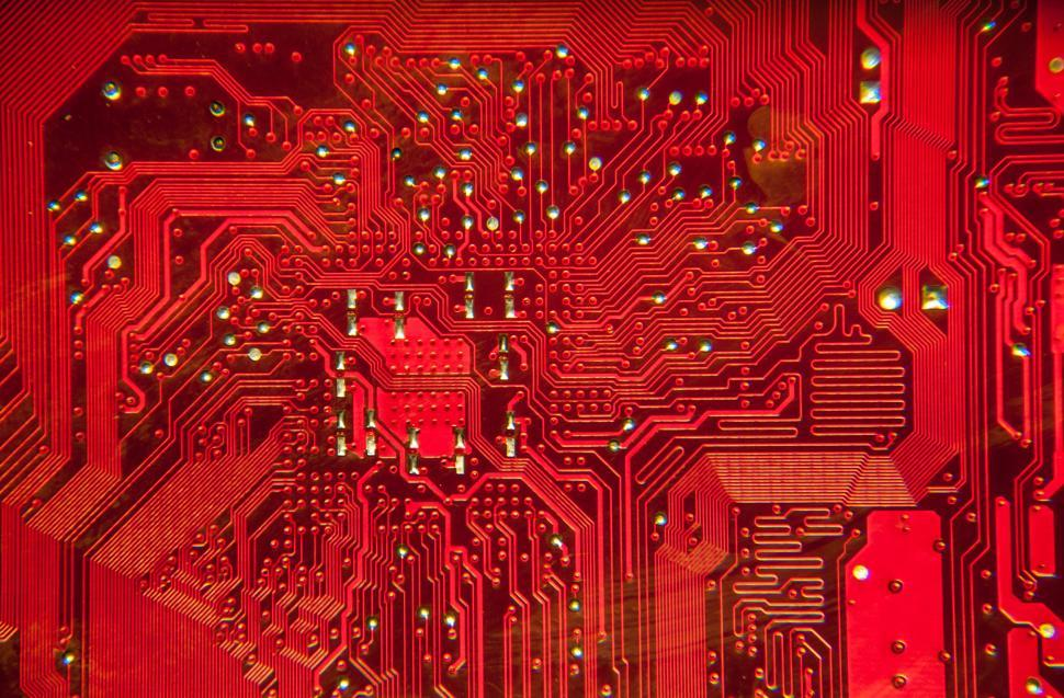 Download Free Stock HD Photo of computer circuit board RED circuit board Online