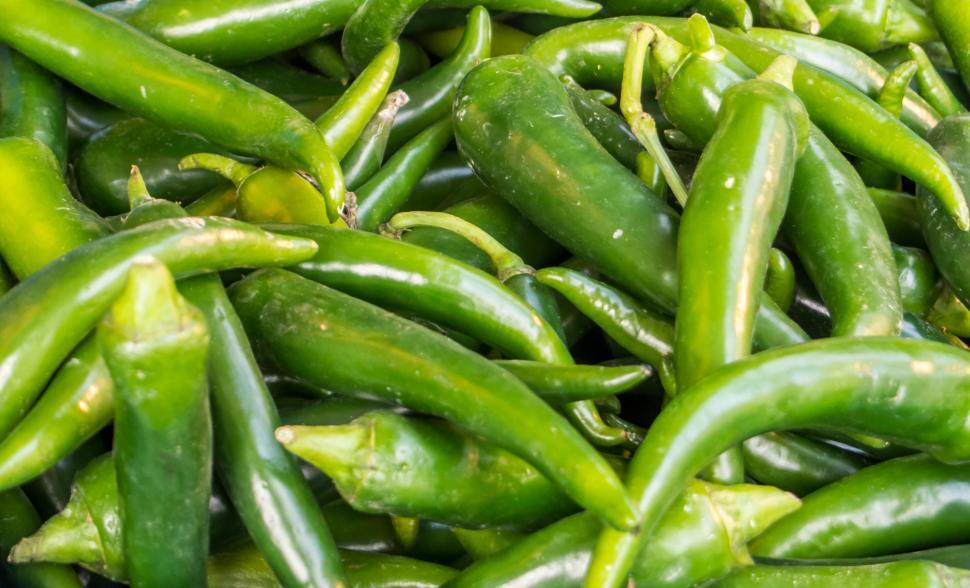 Download Free Stock HD Photo of spicy green hot chili peppers Online