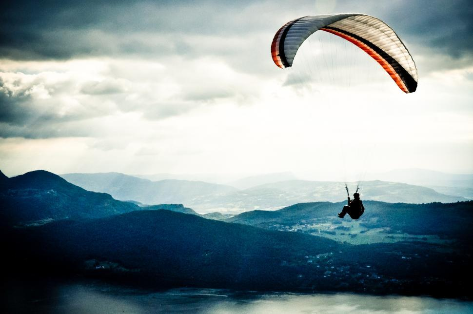 Download Free Stock HD Photo of Paragliding in sky Online
