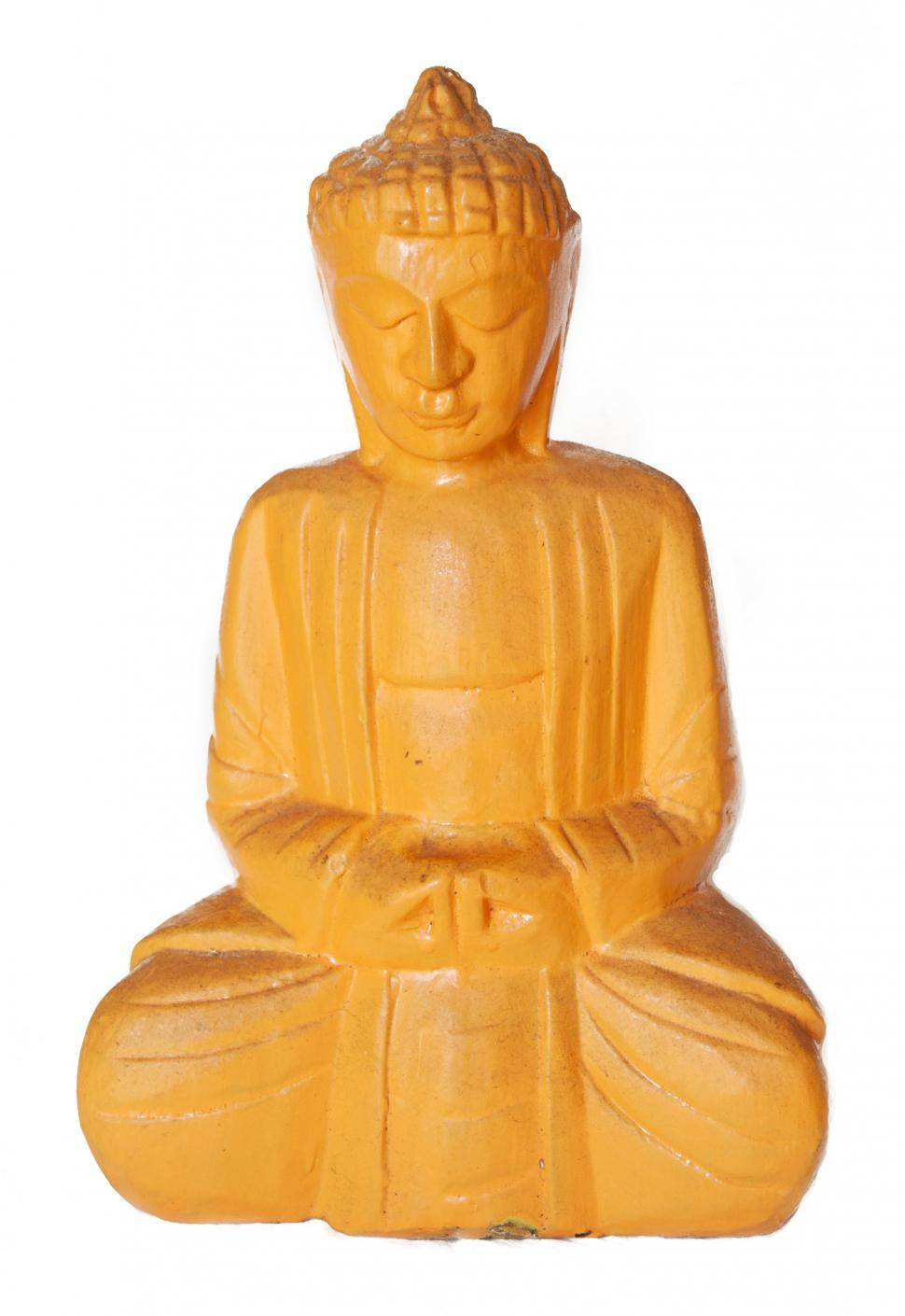 Download Free Stock HD Photo of Yellow buddha statue Online