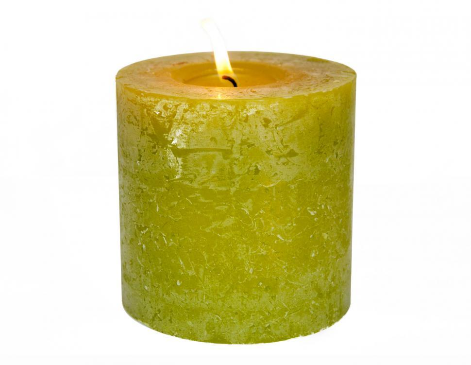 Download Free Stock HD Photo of Green candle Online