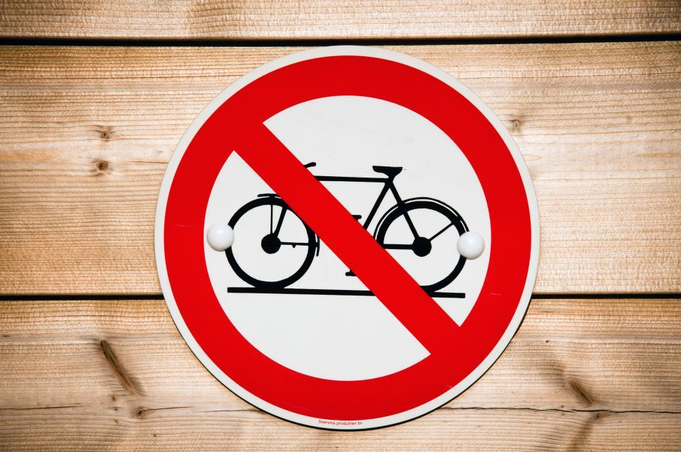 Download Free Stock HD Photo of No bicycle sign Online