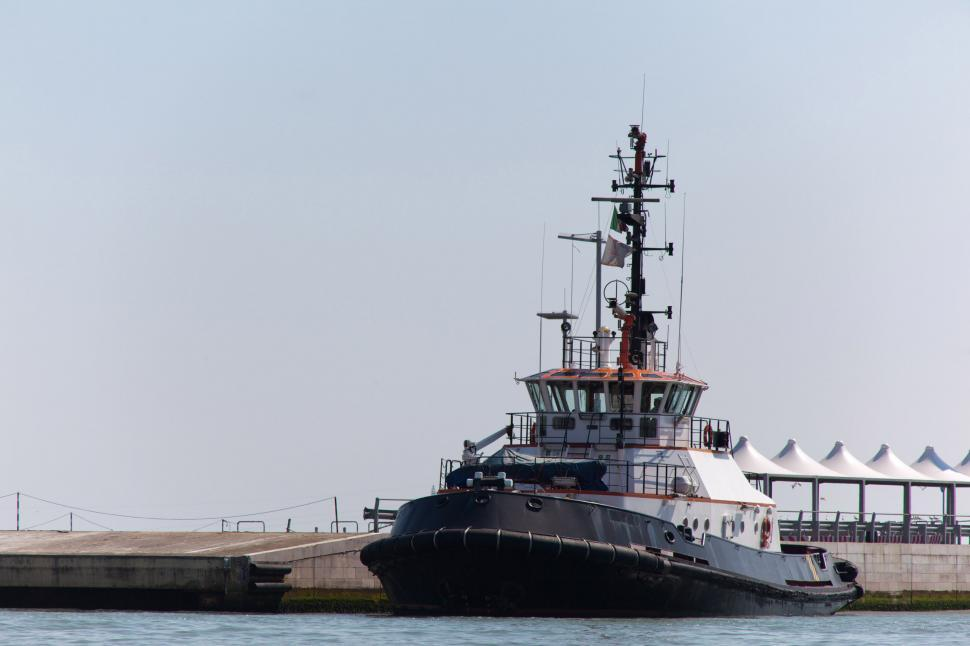 Download Free Stock HD Photo of Tug boat at dock Online