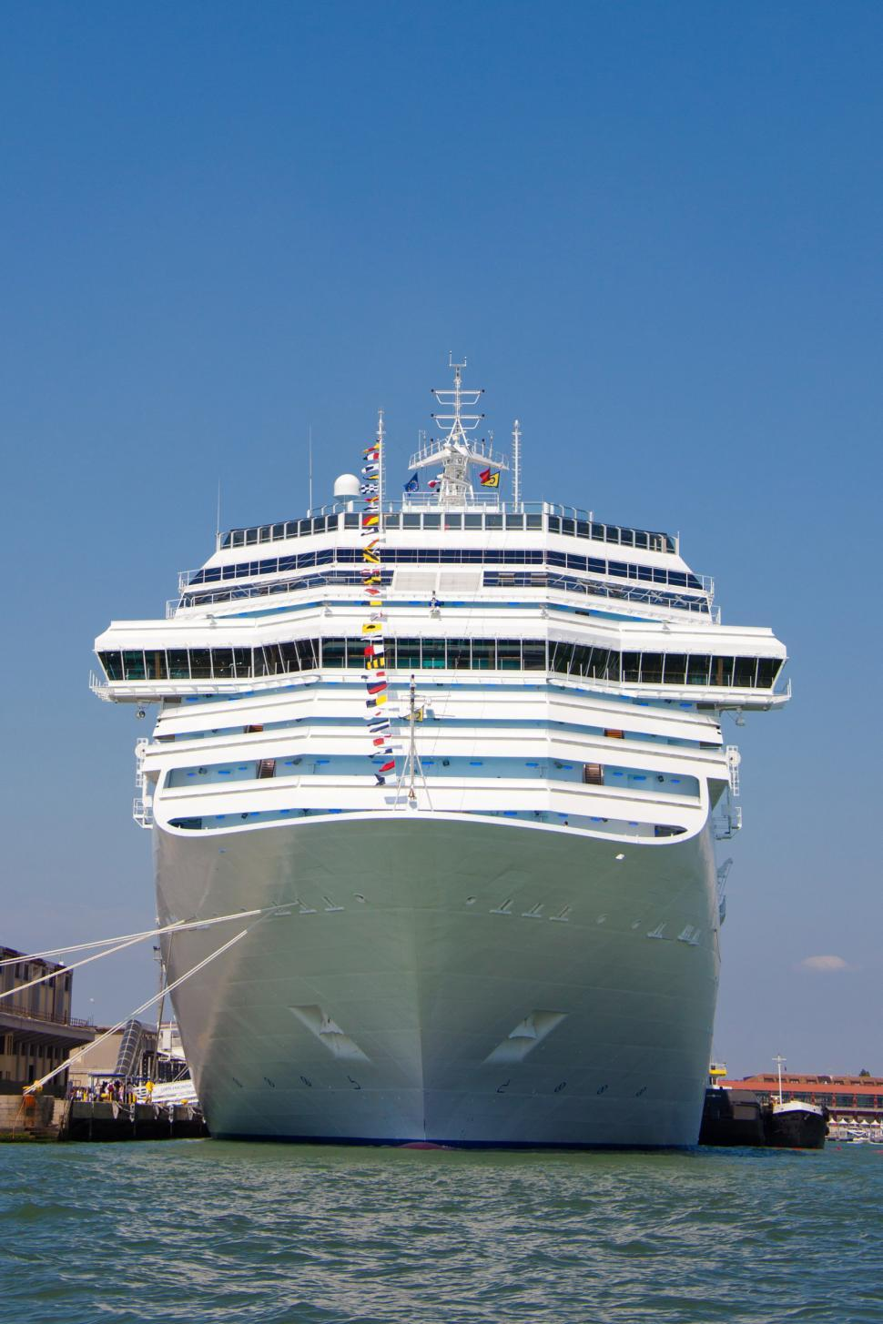 Download Free Stock HD Photo of Cruise ship in port Online