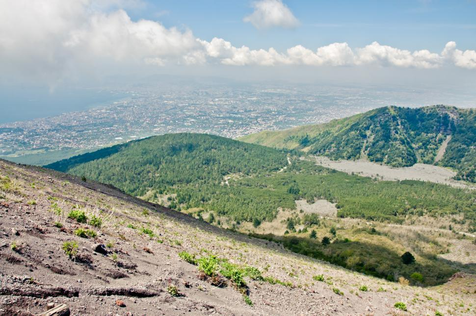 Download Free Stock HD Photo of Naples View from Vesuvius volcano Online