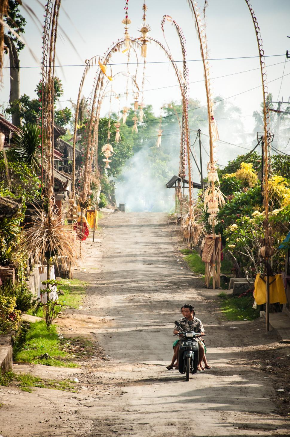 Download Free Stock HD Photo of Balinese village street Online