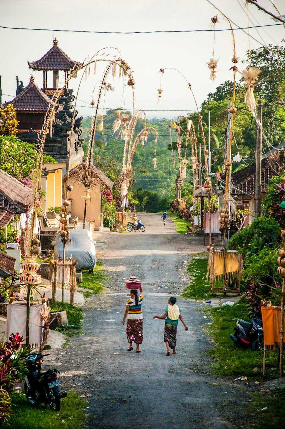Download Free Stock HD Photo of Balinese village street Online