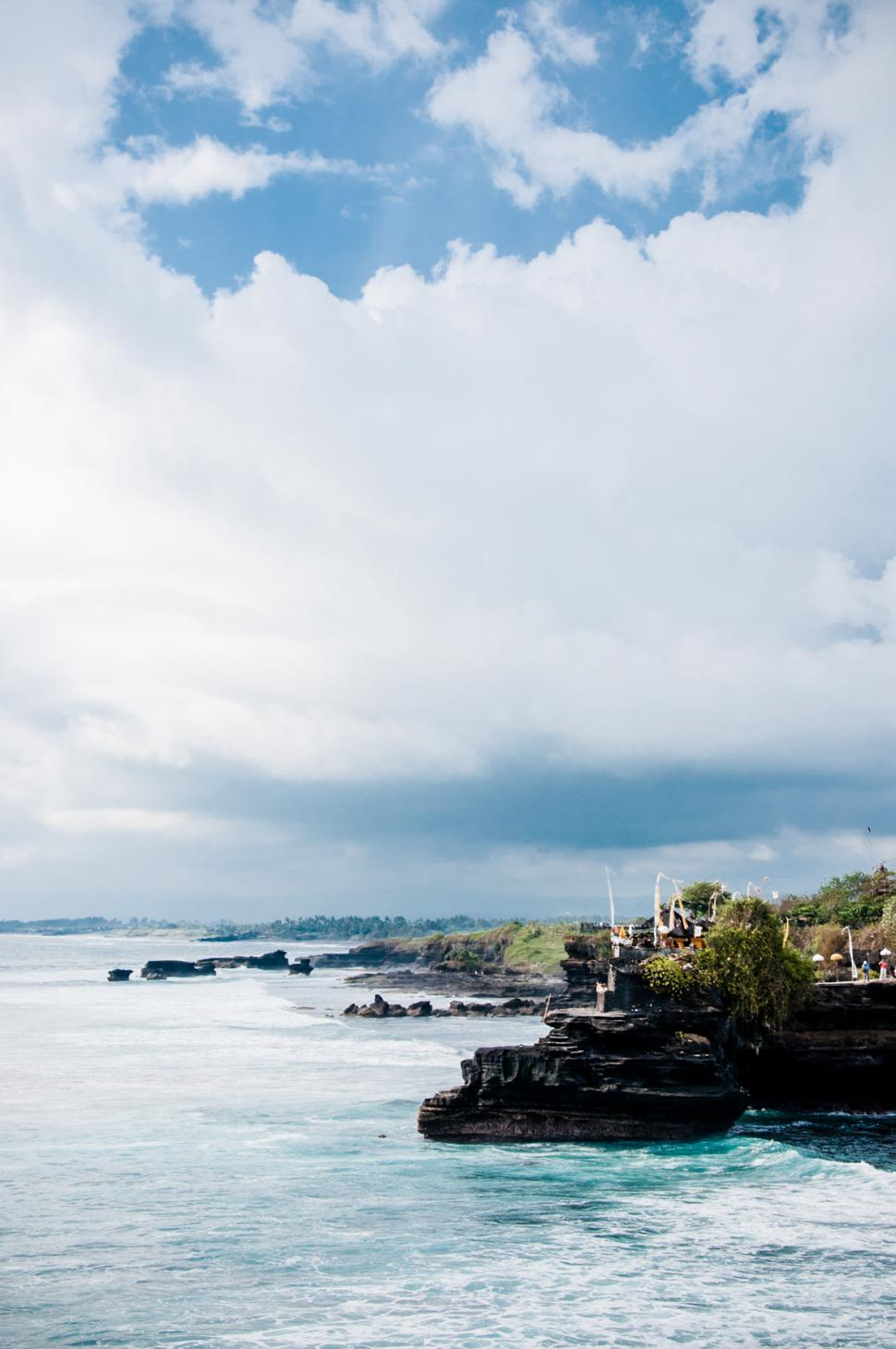 Download Free Stock HD Photo of Tanah Lot Temple on Sea in Bali Island Online