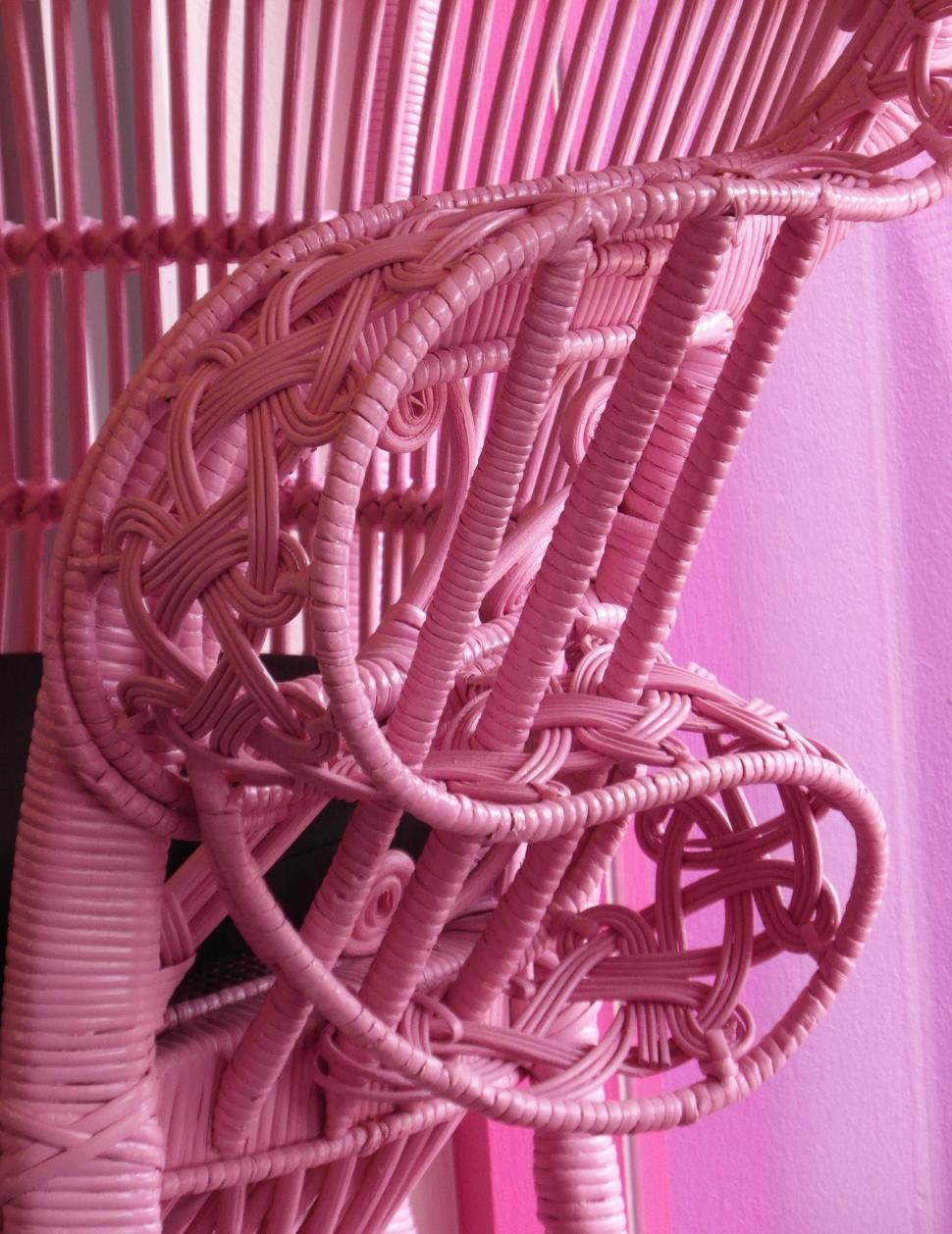 Download Free Stock HD Photo of Pink Wicker Chair Online