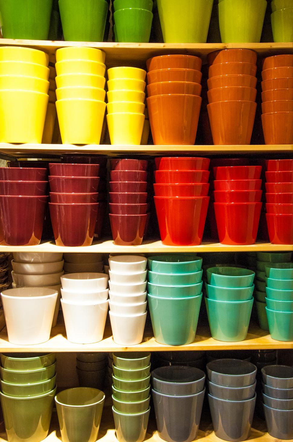 Download Free Stock HD Photo of Colorful pots Online