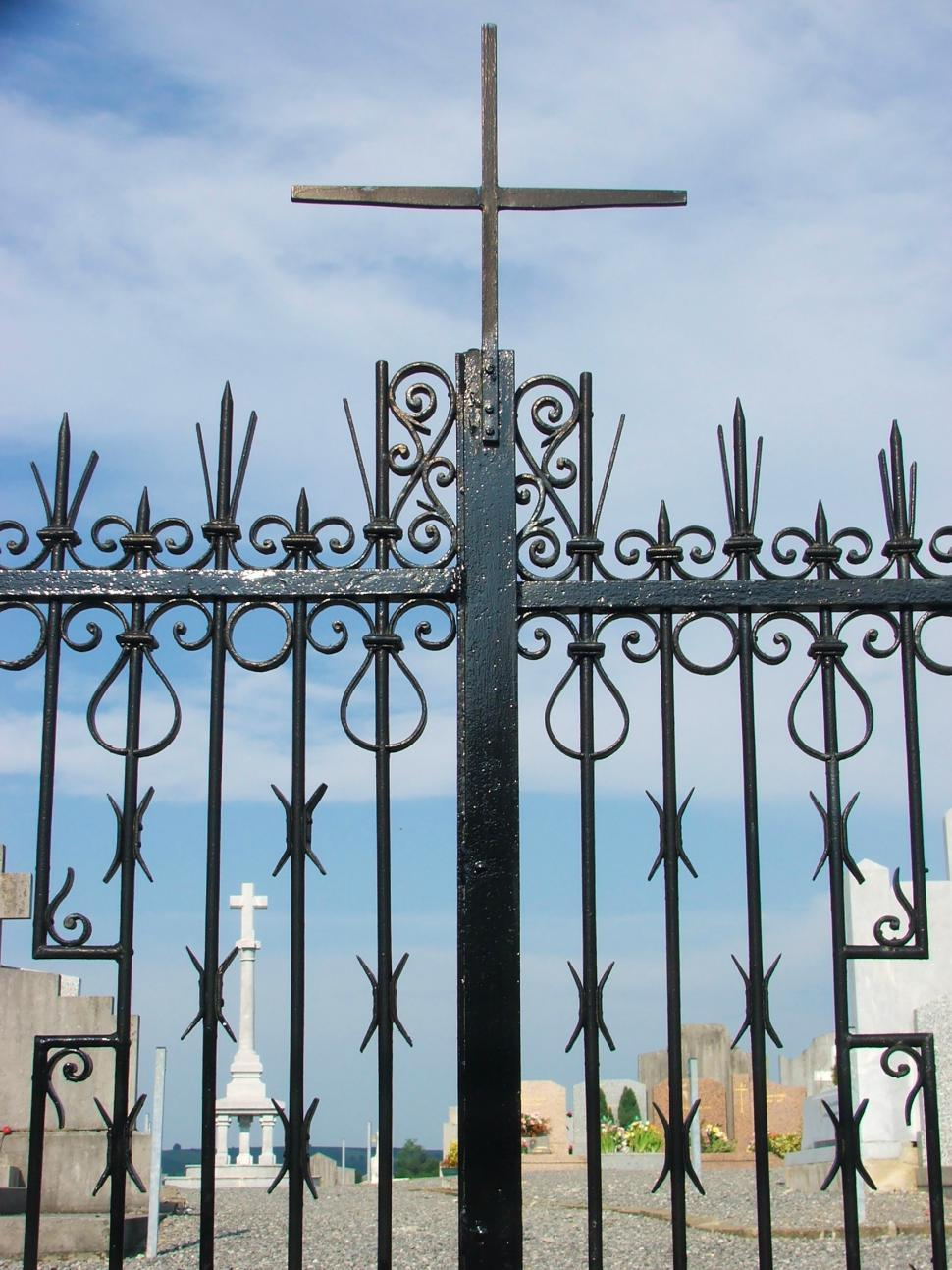 Download Free Stock HD Photo of Cemetery gate Online