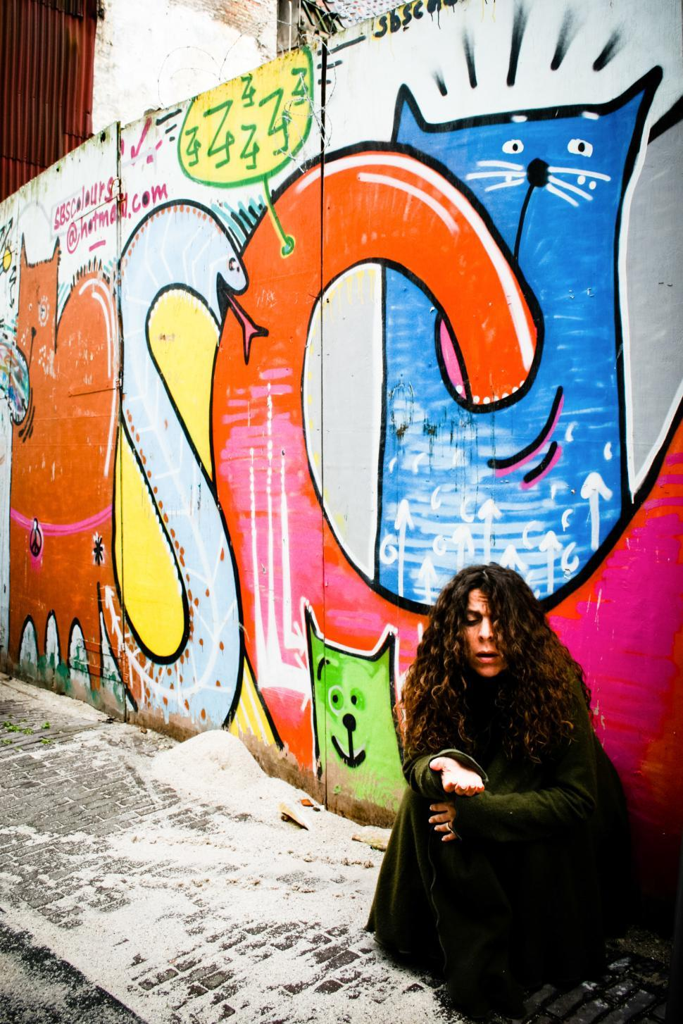 Download Free Stock HD Photo of homeless woman begging Online