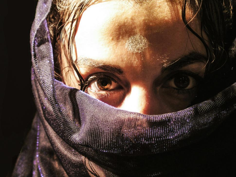 Download Free Stock HD Photo of Arab woman with veil Online