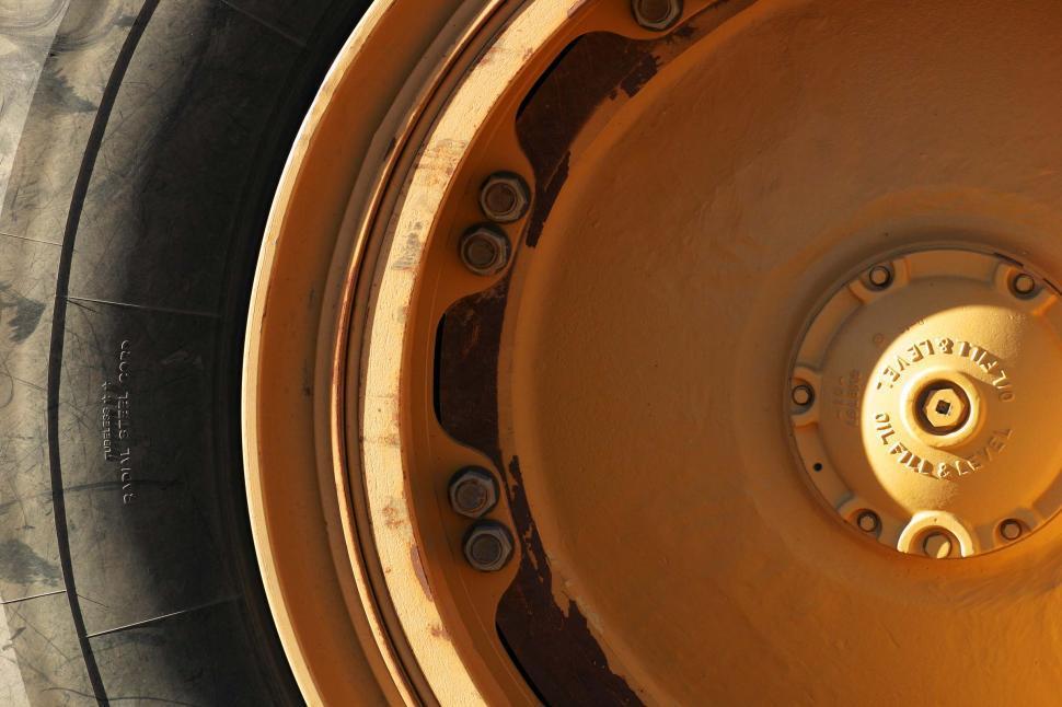 Download Free Stock HD Photo of Mining truck wheel Online