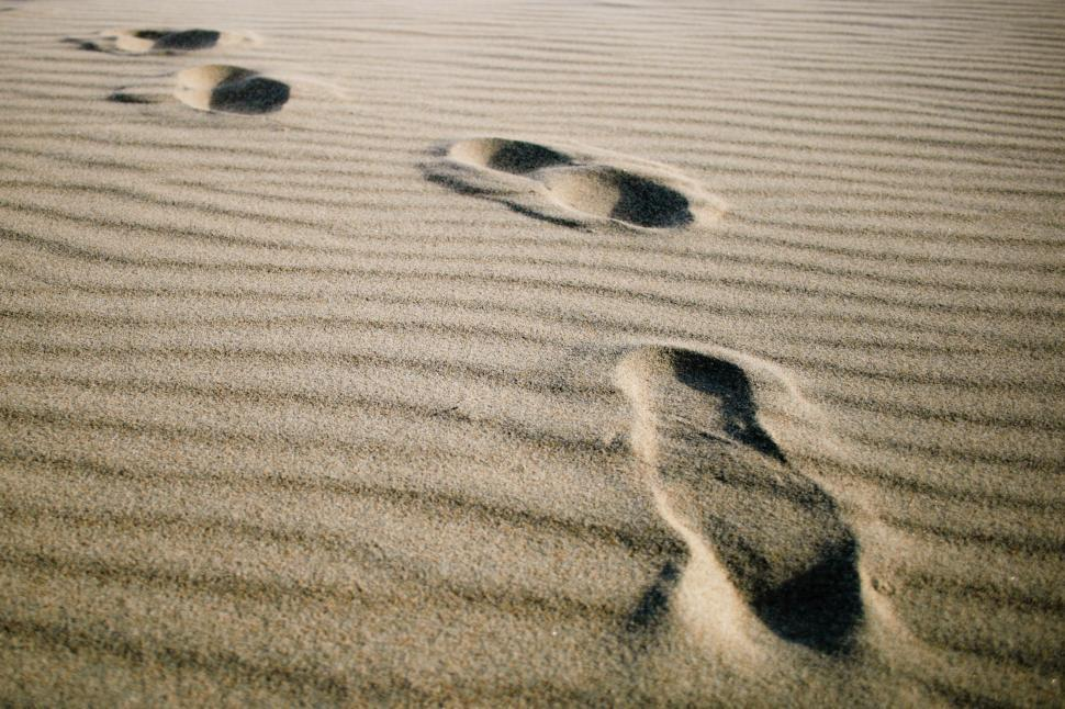 Download Free Stock HD Photo of Footprints on the beach Online