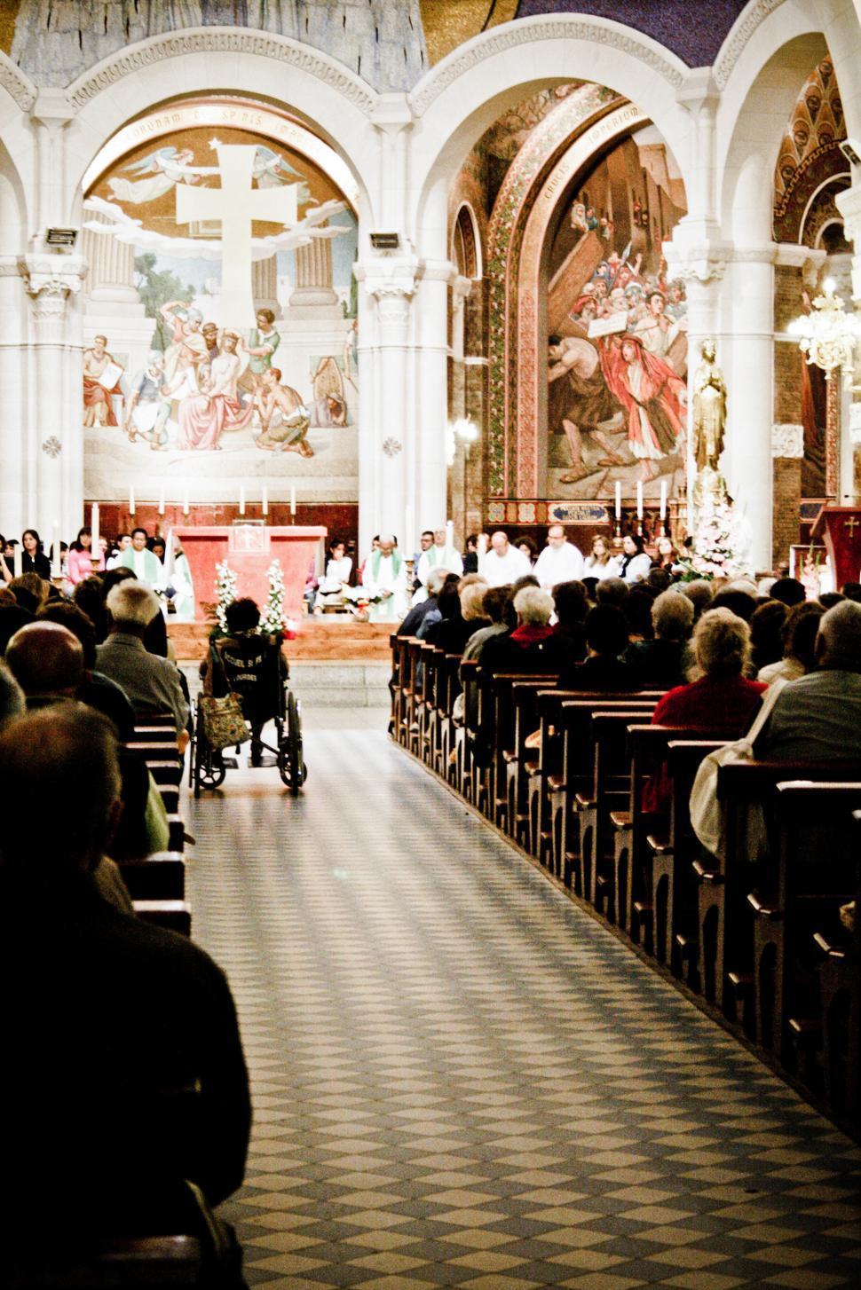 Download Free Stock HD Photo of Inside a church service Online