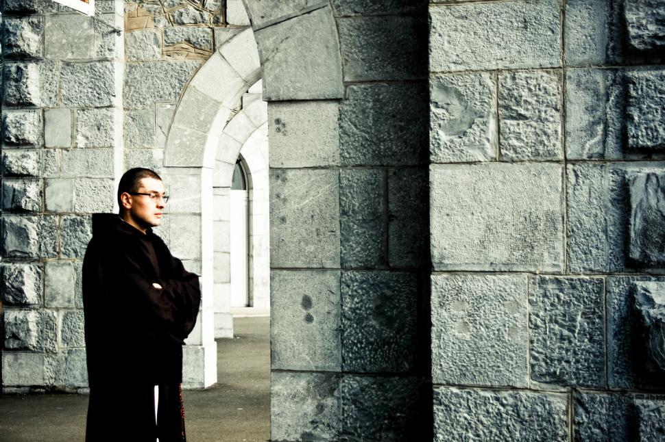 Download Free Stock HD Photo of Priest standing in church Online