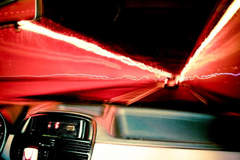 Download Free Stock HD Photo of Driving through a tunnel Online