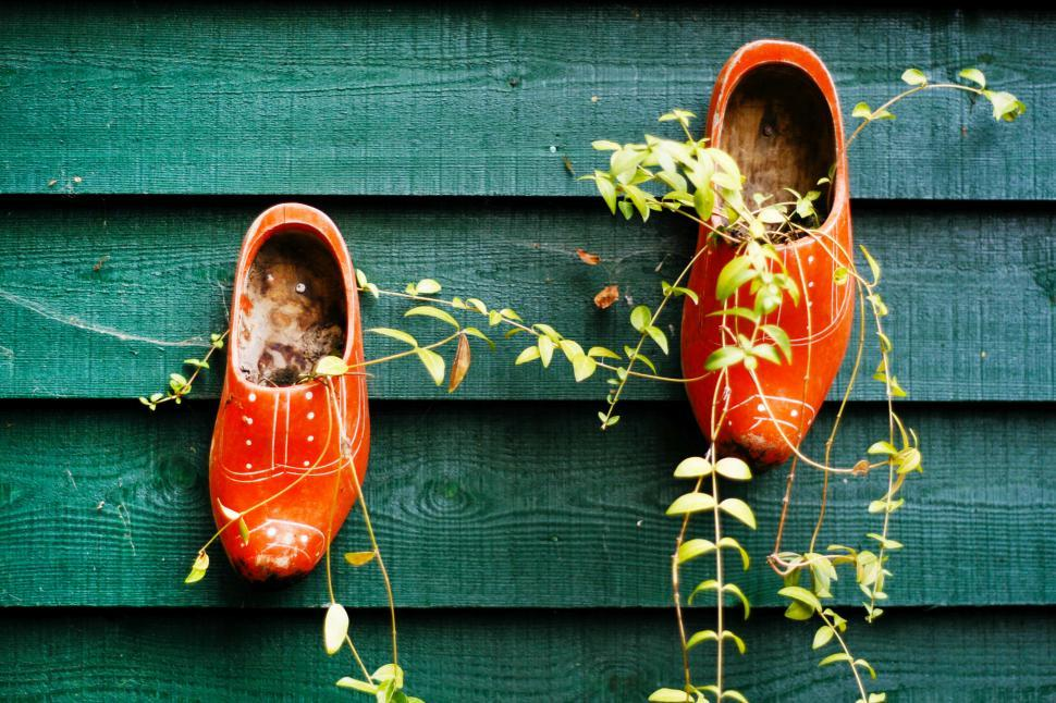 Download Free Stock HD Photo of colorful Dutch wooden clogs Online
