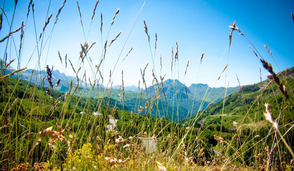 Download Free Stock HD Photo of Mountain landscape in Pyrenees Online