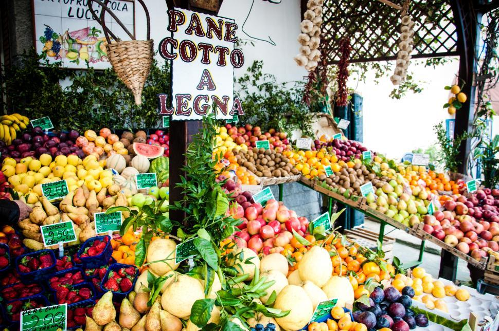 Download Free Stock HD Photo of fruit and vegetables vendor italy Online