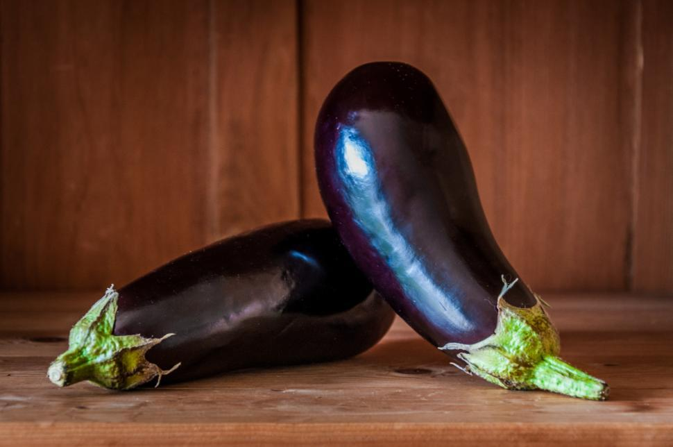 Download Free Stock HD Photo of Organic eggplant (aubergine) Online